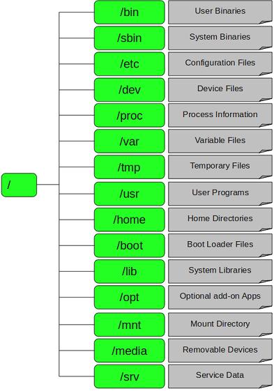 Linux根目录下的各个目录结构及作用