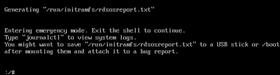 "解决物理机断电后开机出现以下报错generating ""/run/initramfs/rdsosreport.txt""【显哥出品,必为精品】"
